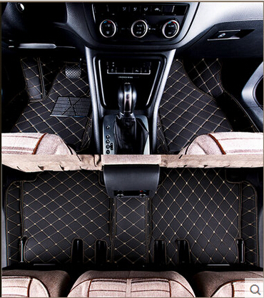 High quality! Custom special car floor mats for Peugeot 5008 5 seats 2018 waterproof carpets for Peugeot 5008 2017,Free shipping