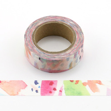 1pc Beautiful colorfuls Decorative Washi Tapes Paper DIY Scrapbooking Adhesive Masking Tapes 10m School Office Supply