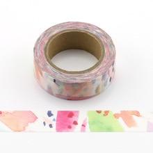 1pc Beautiful colorfuls Decorative Washi Tapes Paper DIY Scrapbooking Adhesive Masking 10m School Office Supply