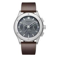 Parnis Pilot V Seriers Световой мужские кожаный ремешок Военная Униформа спортивный хронограф кварцевые часы наручные