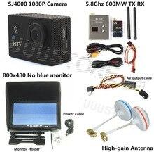 Fpv sistema Combo boscam 5.8 ghz 600 mw transmisor receptor sin azul monitor SJ4000 de buzo para walkera CX20 DJI Phantom QAV250 F450