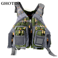 GHOTDA Men Women Fishing Vest Outdoor Water Sports Safety Life Jacket For Boat Fishing