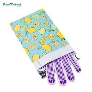 Image 3 - 100pcs 15x23cm 6x9 인치 레몬 과일 패턴 폴 리 메일러 셀프 인감 플라스틱 봉투 가방