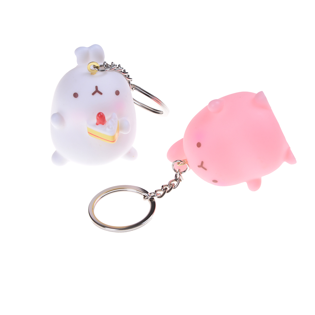 Rabbit Toys Dolls Figure Keychain Pendants key ring figure toys Kids chidren baby Toys 4.5*3.5cm