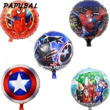 10 adet / grup 18 inç kahraman balonlar Avengers Örümcek Adam Batman Supreman folyo balon Çocuk doğum günü parti malzemeleri bebek oyuncakları ballon