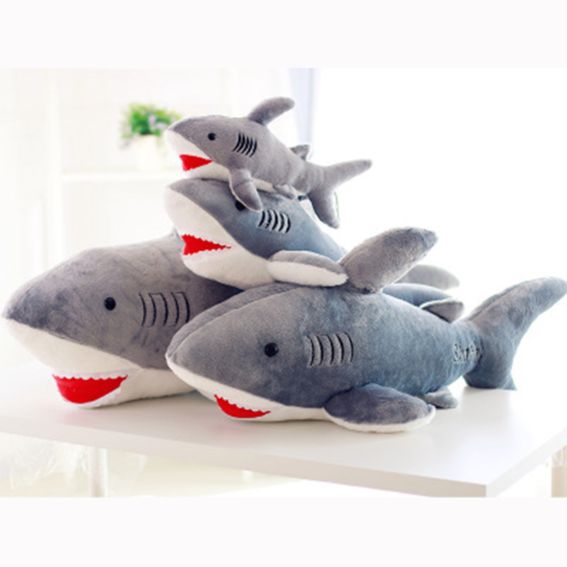 Soft Plush Stuffed Animal Shark Toy Dolls Gray Shark Plush Toys High Quality For Boys Christmas Gift Toys & Hobbies Stuffed & Plush Animals