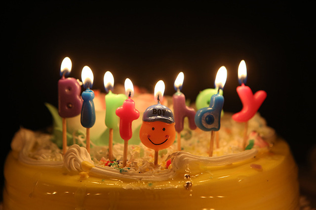 Boy And Girl Type Candles For Birthday Cake