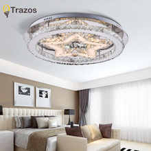 Крытый светодиодные светильники потолочные для дома гостиная декор Освещение Люстры де Teto Crystal Star рождественской вечеринки поверхностного монтажа лампы