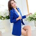 women blazer 2016 Spring and autumn plus size women clothing outerwear ol medium-long slim elegant long-sleeve suit jacket