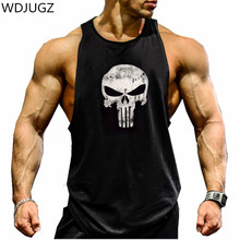 Fitness Tank Top Men Bodybuilding 2017 Clothing Fitness Men Shirt Crossfit Vests Cotton Singlets Muscle Top Punisher WDJUGZ BEAR