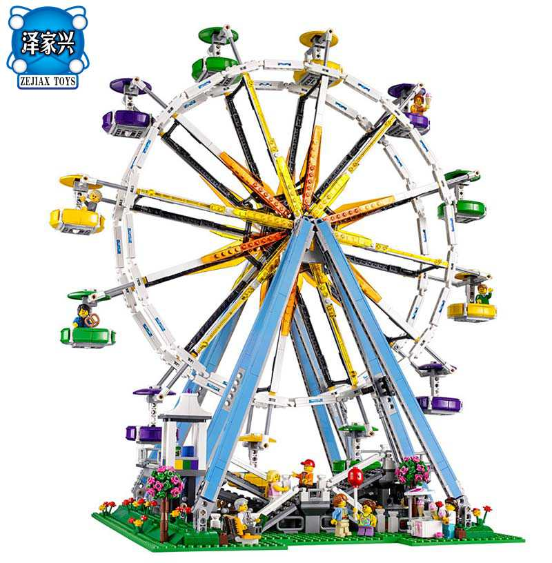 In-Stock 2518pcs New  City Street Ferris Wheel Model Building Kits Blocks Toy Compatible with Lepines Gifts