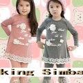 Весна осень дети одежда дети одежда девочки футболки младенцы брюки 2 шт. / комплект TZ-246