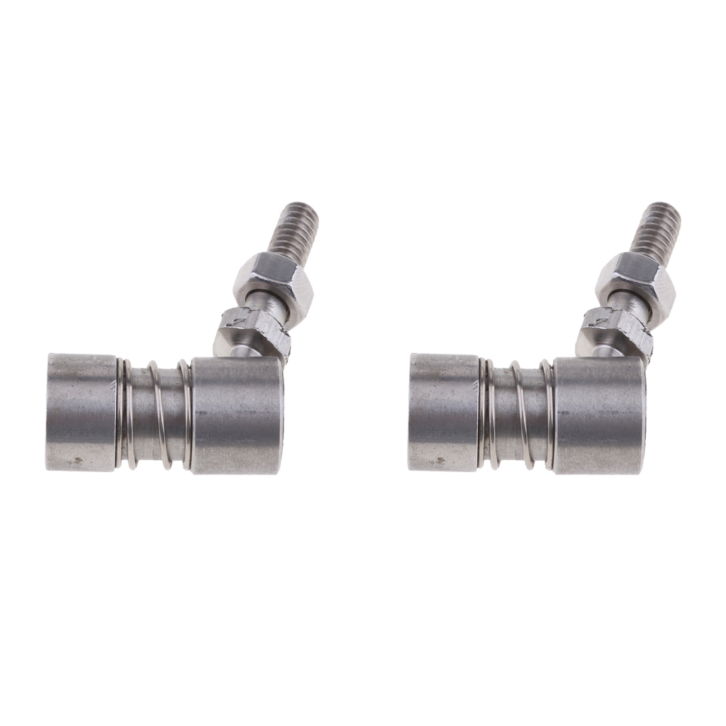 2X 304 Stainless Steel Control Cable Shift Throttle Ball Joint Boat Hardware
