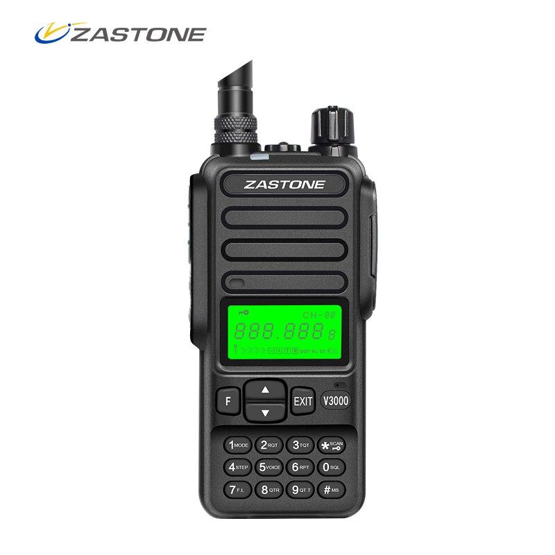 Zastone V3000 8W 10km 400-470 MHz Portable UHF Handheld Two Way Ham Radio Communicator HF Transceiver 4000mAh Battery