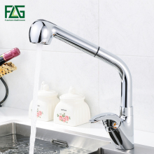 FLG Kitchen Faucet Pull Out With Spray Kitchen Tap Torneira Cozinha Sink Single Handle Deck Mounted 360 Rotation Tap