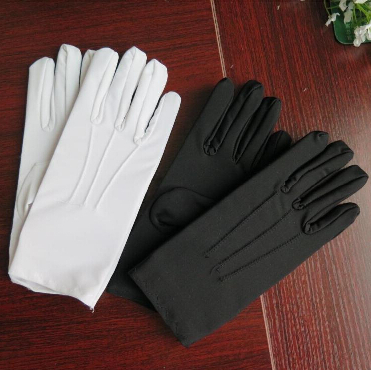 Spring And Summer Men's Thin Large White Etiquette Gloves Male Plus Size Elastic Gloves Wholesale TB631