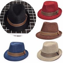 10cd1ff016a Vintage Boys Girls Baby Child Rolled Brim Trilby Fedora Hat Pinch Crown Jazz  Cap