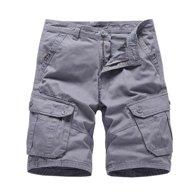Mens Cargo Shorts 2019 Brand New Army Military Tactical Shorts Men Cotton Loose Work Casual Short Pants Drop Shipping