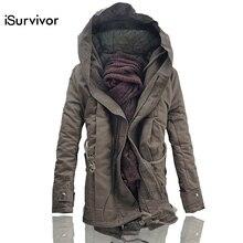 ISurvivor mężczyźni kurtka i płaszcze 2020 zimowe męskie ciepłe kurtki moda męska kurtki Downs Casual Men grube znosić Plus rozmiar 4XL 5XL