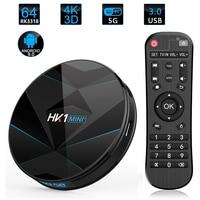 HK1 MINI PLUS Smart Android 9.0 TV Box 4GB RAM 128GB ROM RK3318 Media Player 2.4G 5G WiFi Bluetooth 4.0 4K HD Smart Set Top Box
