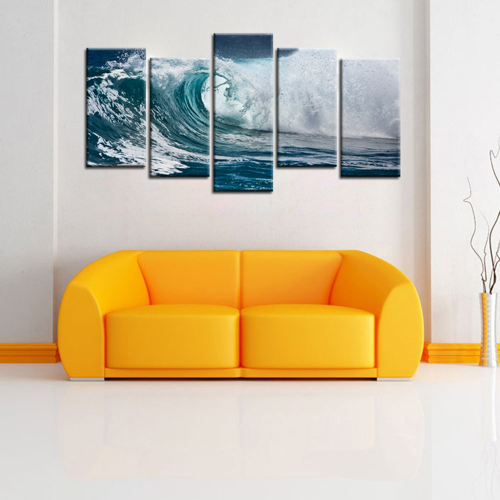 Definition Pictures Canvas Wall Decor Modular Pictures Sea Wave ...
