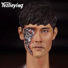 Lee Byung Hun Terminator Genisys T-1000 Combat Damage 16-3 KUMIK 1/6 Male Head Sculpture Model 12