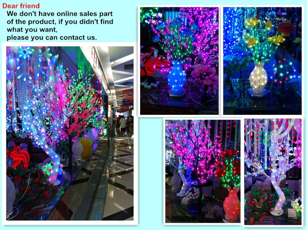 2014 New Holiday Light Christmas Decoration Lights Luxury Handmade Drtificial led Cherry Blossom Tree Light 250cm 1200 Light (9)