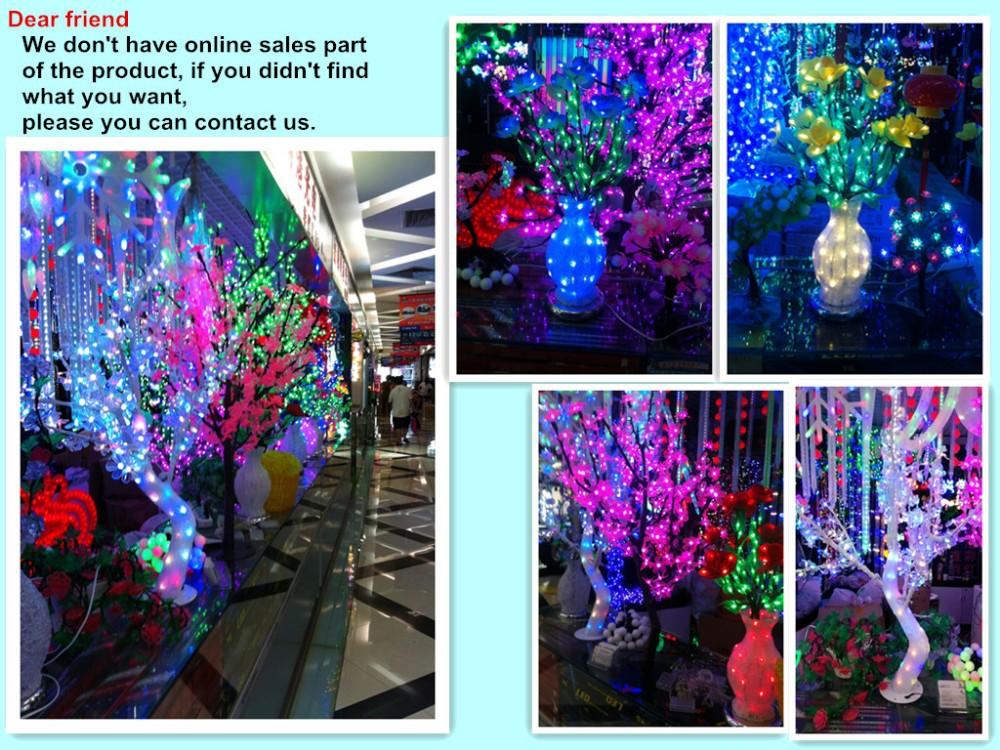2014 New Holiday Light Christmas Decoration Lights Luxury Handmade Drtificial led Cherry Blossom Tree Light 250cm 1200 Light (9)