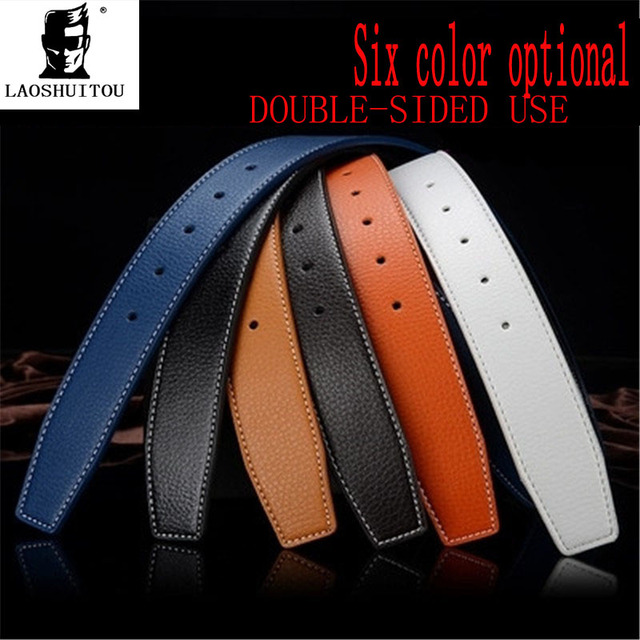 71cda85fb04a 2016 Men s Brand Selling High-end Fashion Ladies Leather Belt Men Belt not Buckle  Luxury