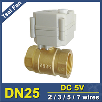 TF25 B2 B DN25 1 2 BSP NPT 2 Way Brass Mini Motorized Valve With Manual