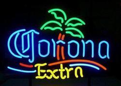 Niestandardowe Corona dodatkowe szkło znak światła Neon Beer Bar