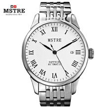 Brand Classic Business Fashion Watch Men Automatic Watch Rome Numeral Clock Calendar Flywheel Wristwatch Relogio Masculino