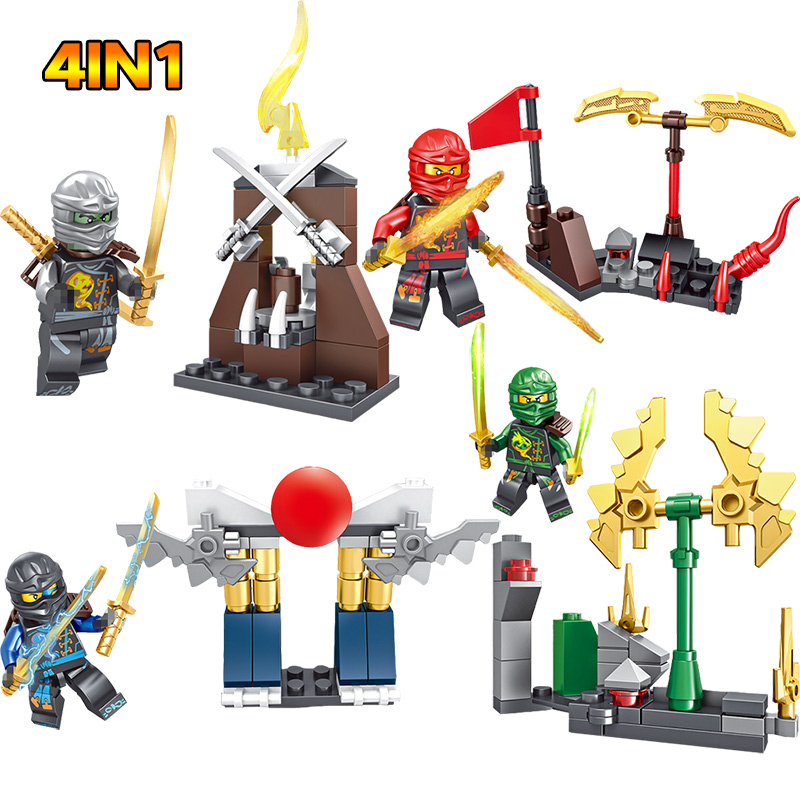 Toys & Hobbies Search For Flights 4 In 1 Hot Building Blocks Compatible With Legoinglys Ninjagoes Sets Bricks Weapons Figure Blocks Toys For Children