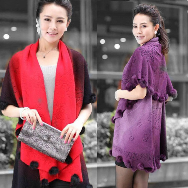 2016 New Women'S Winter Wool Shawl Knitting Cardigan Ponchos Capes Blanket Oversized Scarves Female Poncho Coat