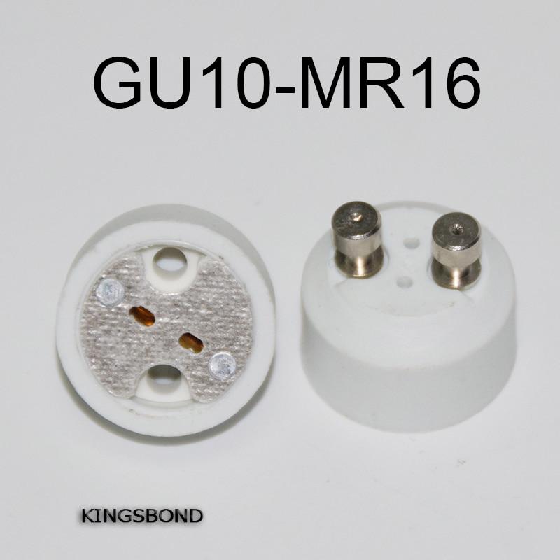 Freeshipping 10 шт. светодиодные лампы основание MR16 разъем GU10 для MR16 адаптер конвертер для светодиодная лампа