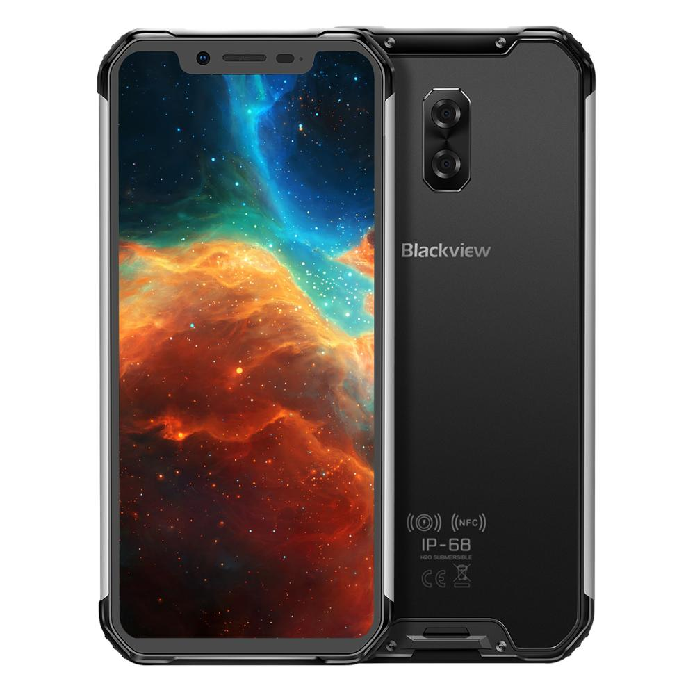 Original Blackview BV9600 Android Mobile Phone 6.21inch MT6771T Octa Core 4GB 64GB Wireless Charging Dual SIM NFC OTG Smartphone