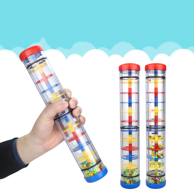 Rainmaker Toy Rain Sound Tube Plastic Teaching Tools Education Shakers Music Percussion Durable Gift Kids