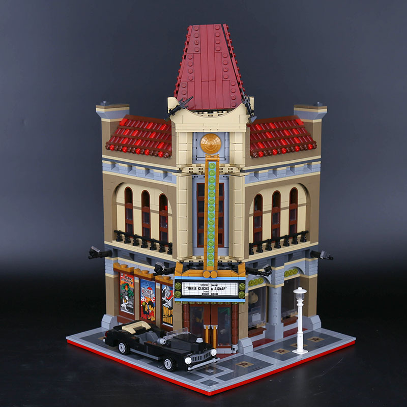 15006 City Street Palace Cinema Model Building Blocks Set Compatible with 10232 Classic House Architecture Toys-in Blocks from Toys & Hobbies    1