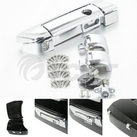 Chrome Tour Pak Pack Trunk Latches W/ Key For Harley Touring Models 2014 2018 17 Motorcycle