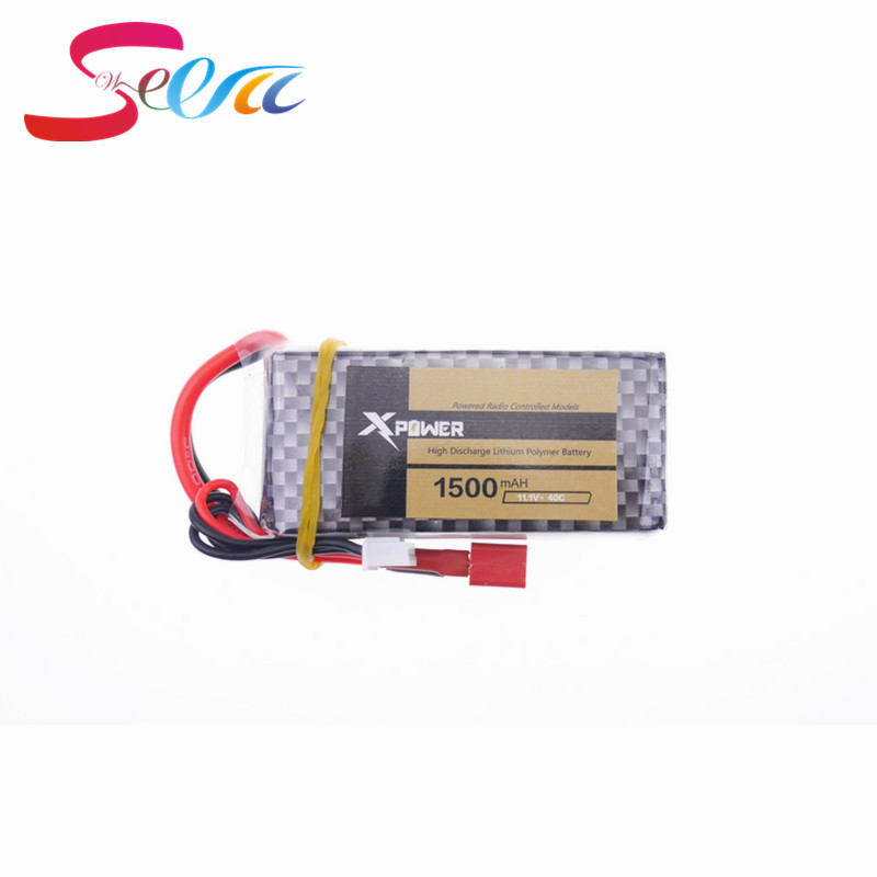 1pcs Xpower LiPo Battery 11.1V 1500Mah 3S 40C XT60/T Plug For RC Car Airplane WLtoys V950 Helicopter Part 2017 смеситель с душем недорого купить