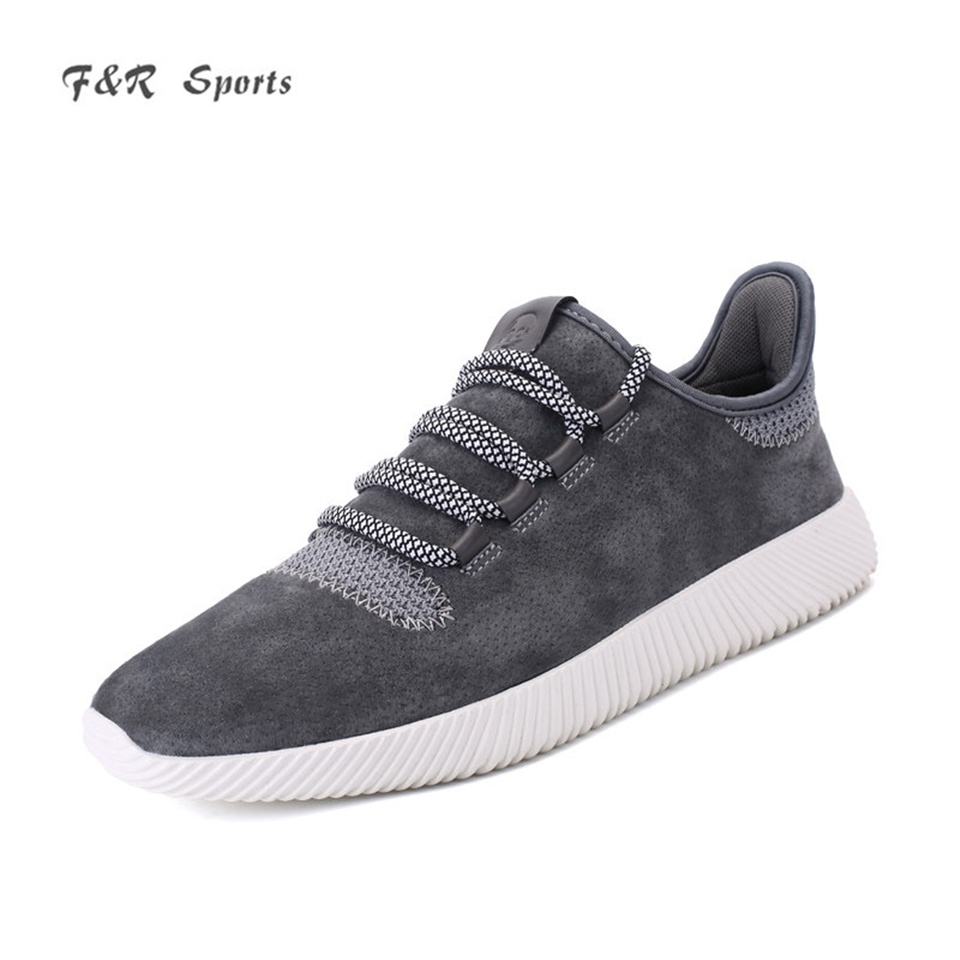 F&R Men Classic Retro Running Shoes Lightweight Suede Comfortable Sneakers Outdoor Walking Yeezys Sports Man Jogging Shoes 39-44