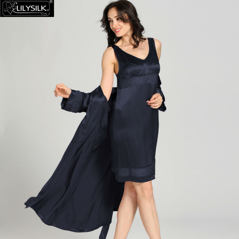1000-navy-blue-22-momme-luxury-lacey-silk-nightgown--dressing-gown-set-02