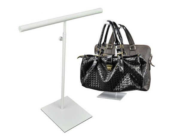 Double Side Adjustable Height Handbag Stand Display White Woman Handbag Display Rack Holder bag rack furniture accessories