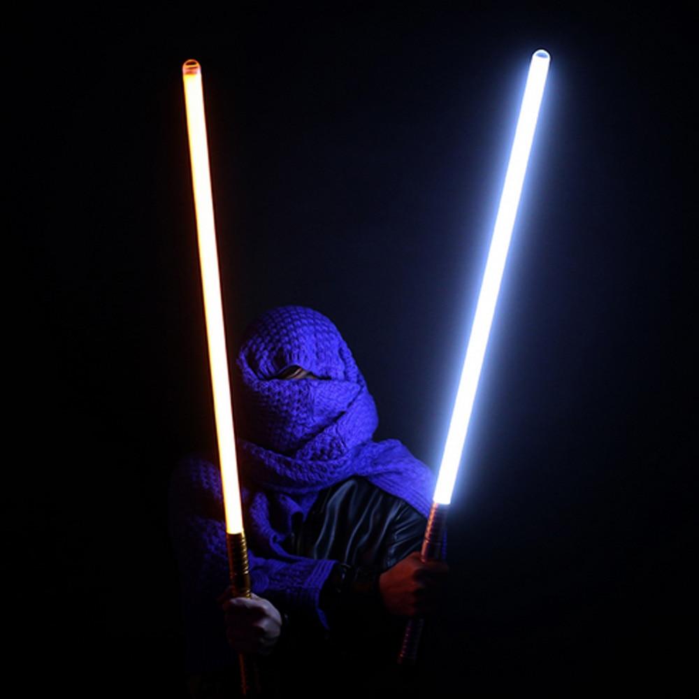 2018 nuevo unids 16 tipos 1 pieza de sonido Luke Lightsaber negro serie 60 100 cm de longitud Vader espada luz Saber regalo de cumpleaños para niños - 5