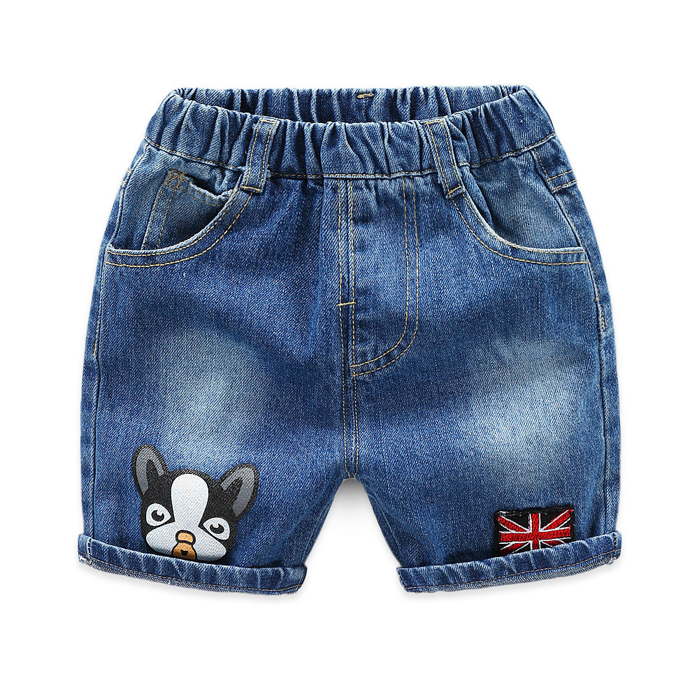2019 Kids Summer Print Short Jeans Trousers Children Cotten Casual Pants for baby boys loose shorts 2 to 8 Years Old 1