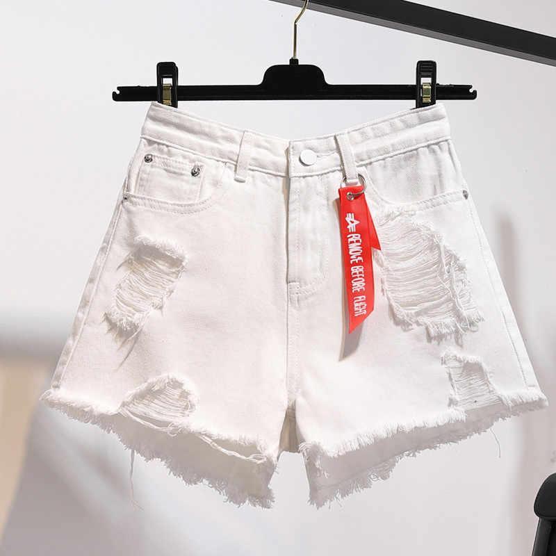 Джинсовые женские Шорты повседневные 2019 летние новые винтажный с высокой талией женские шорты плюс размер тонкие стрейч женские джинсовые шорты WIN885