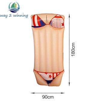 Piscina Gonfiabile Per Adulti | 2018 New Sexy Bikini Piscina Gonfiabile Galleggiante Acqua Adulto Isola Galleggiante Swim Consiglio Materasso Ad Aria Divertimento Giocattoli Vendita Calda