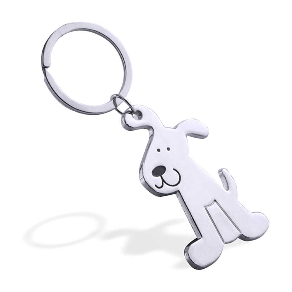 Metal Pet Key  Animal Dogs Key Ring Bag charm Wholesale Lovely Handbag Keychain Car Keyring gift Women Jewelry can dropshipng