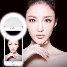 Porable Mini для селфи кольцо света повышения фотографии Портативный Батарея Камера телефон фотографии для iPhone 6 6 плюс Huawei Xiaomi