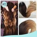 Европейский Реми Объемная Волна Ломбер Коричневого До Блондинка Пучки Волос Плетение волос Прямо Необработанные Волос